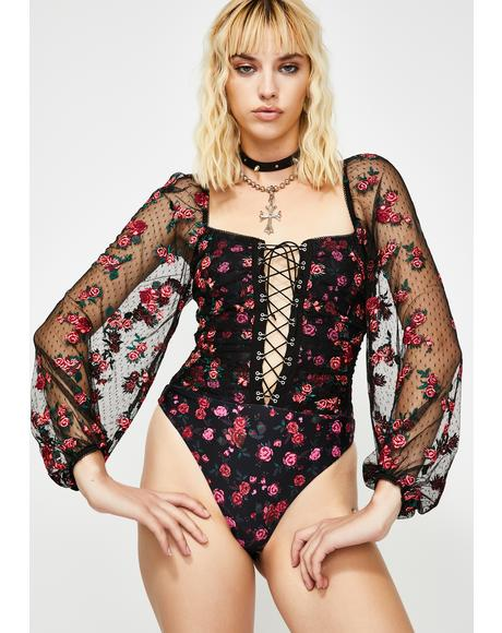 Blondie Embroidered Bodysuit