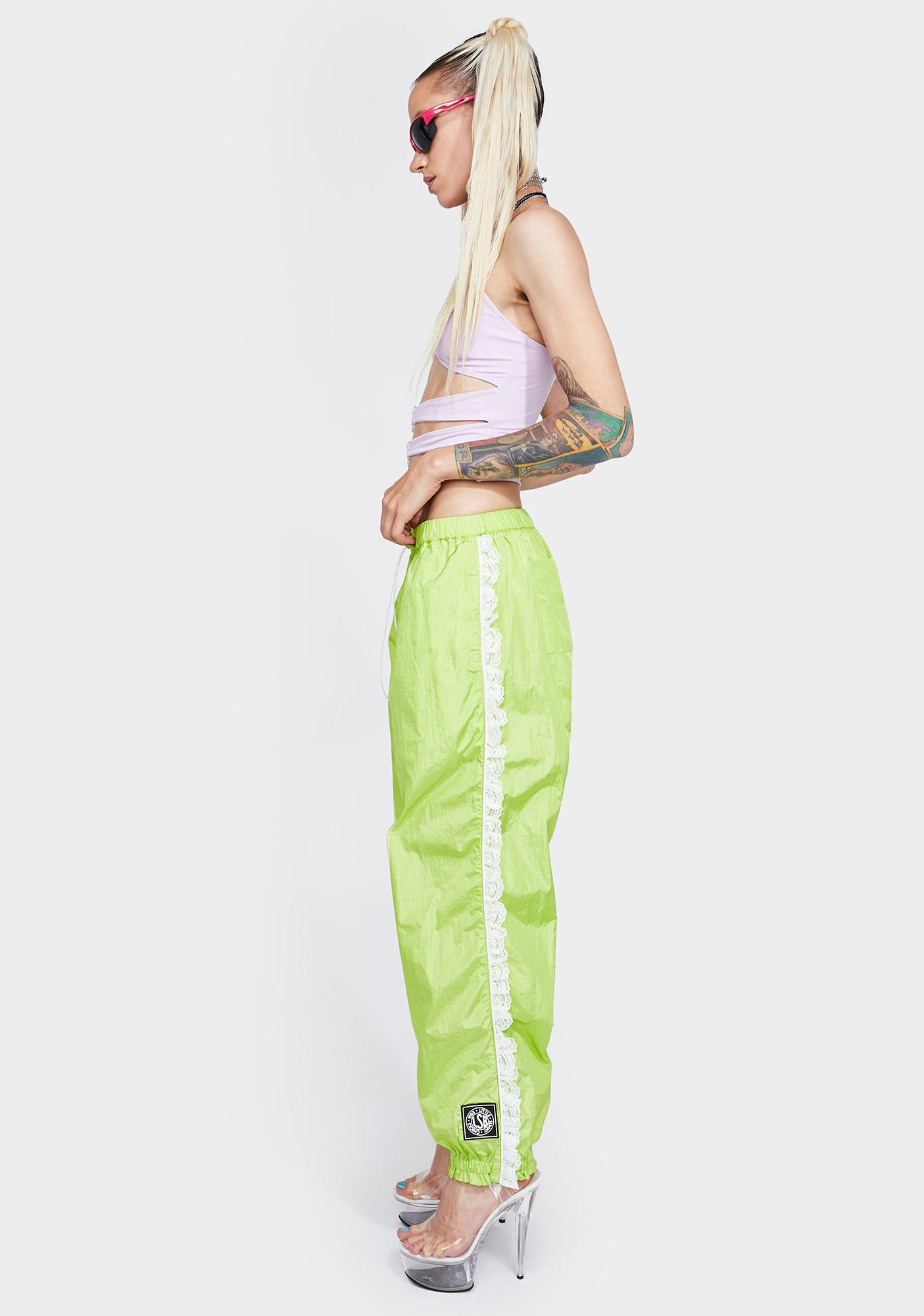 Little Sunny Bite Nylon Girly Track Pants