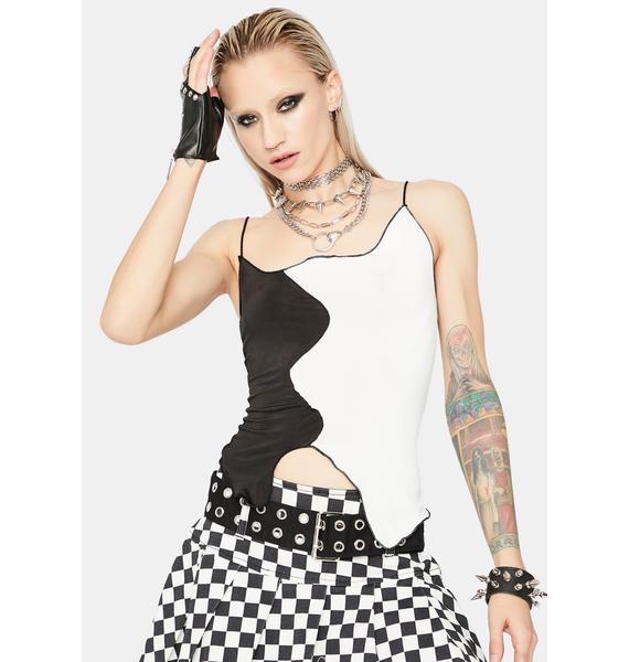 Noir Punk Pretty Two-Tone Tank Top