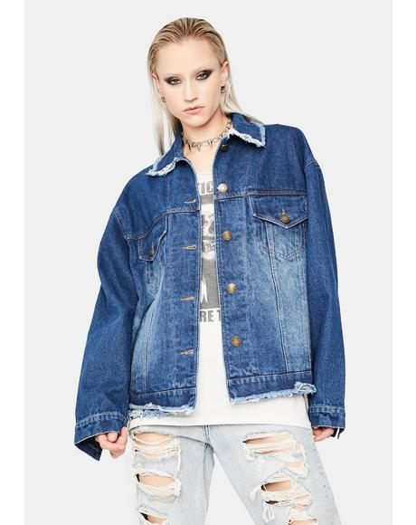 Rockstar Status Distressed Denim Jacket