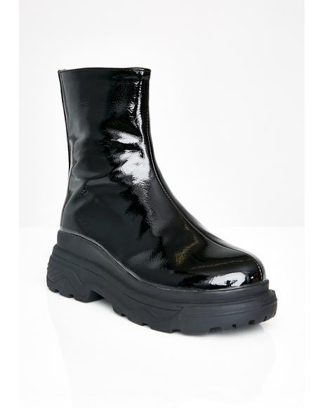 Hulk Patent Boots