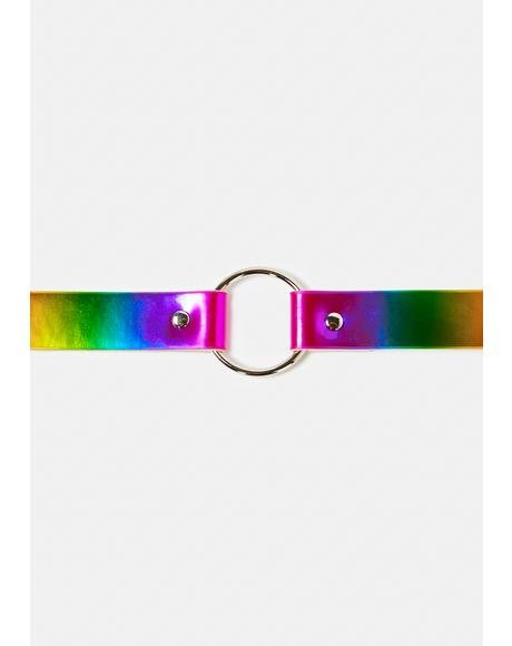 Got That Glow Rainbow O-Ring Choker