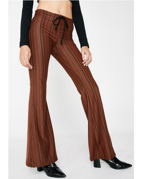 Striped Drawstring Pants