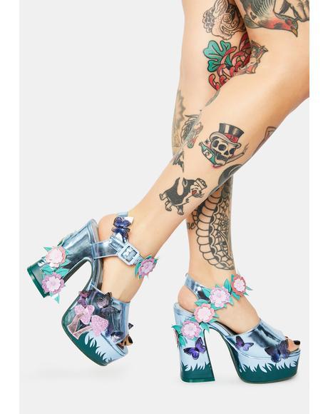 Enchanted Forest Platform Heels