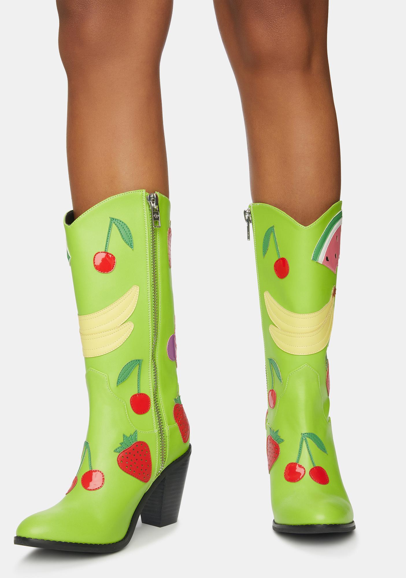 Current Mood Grapeful For You Cowboy Boots