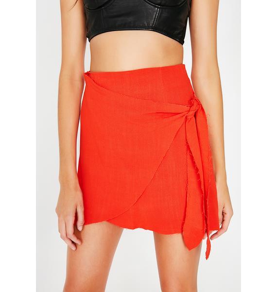 It'z A Wrap Mini Skirt