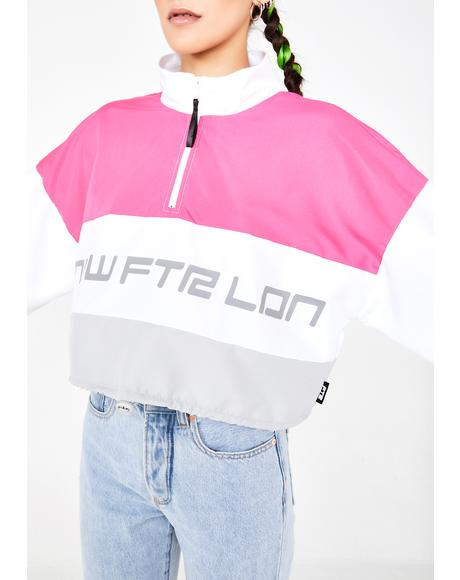 Racer Logo Crop Windbreaker