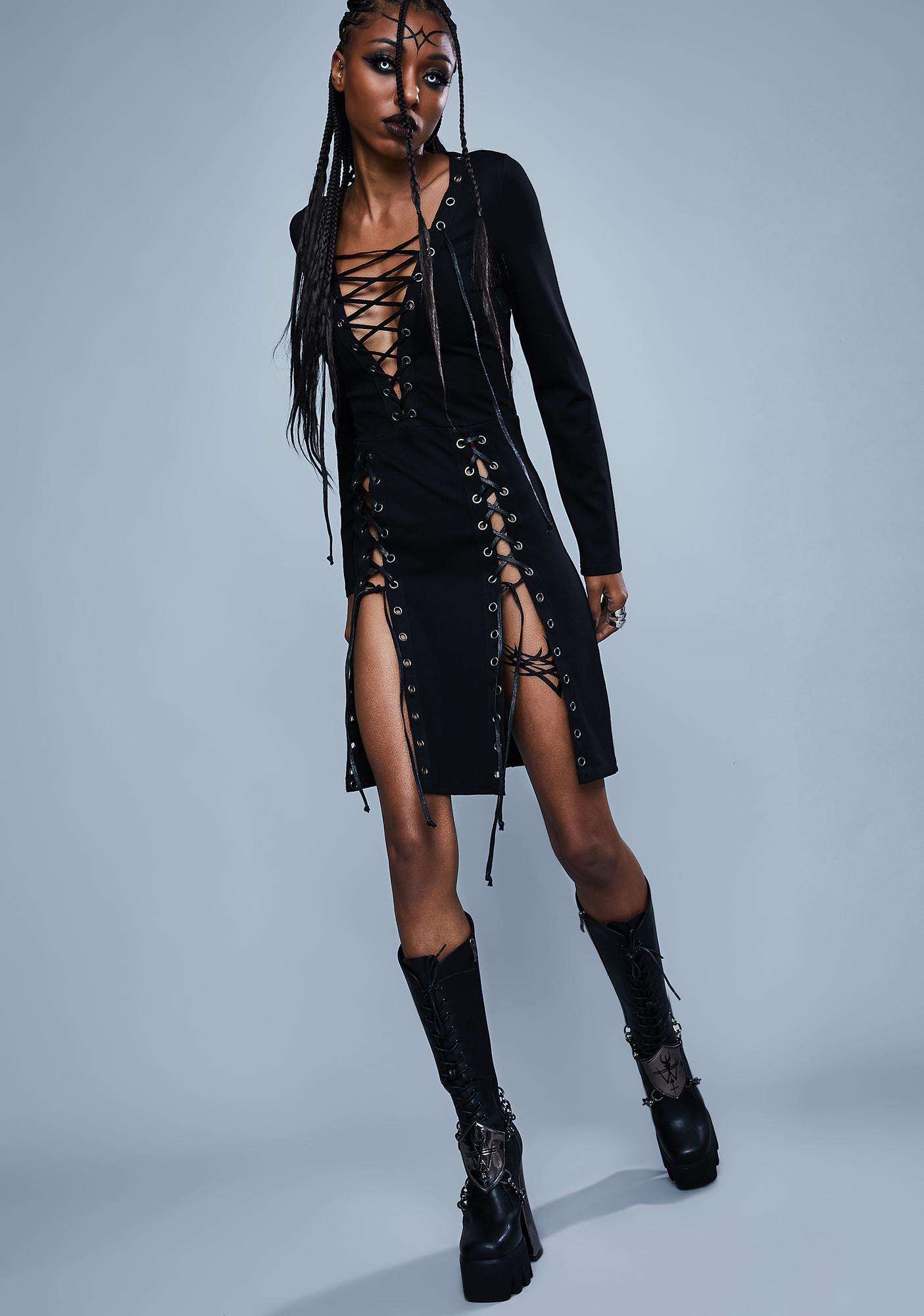 Widow Fallen Kingdom Lace Up Dress