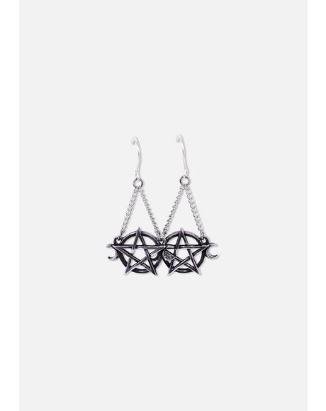 Goddess Pentagram Earrings