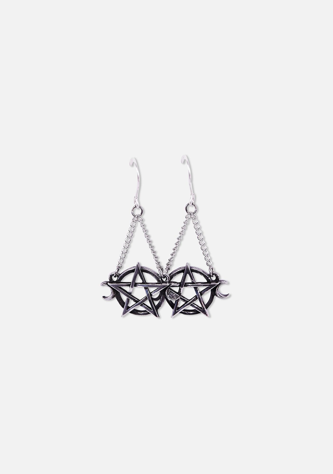 Alchemy England Goddess Pentagram Earrings