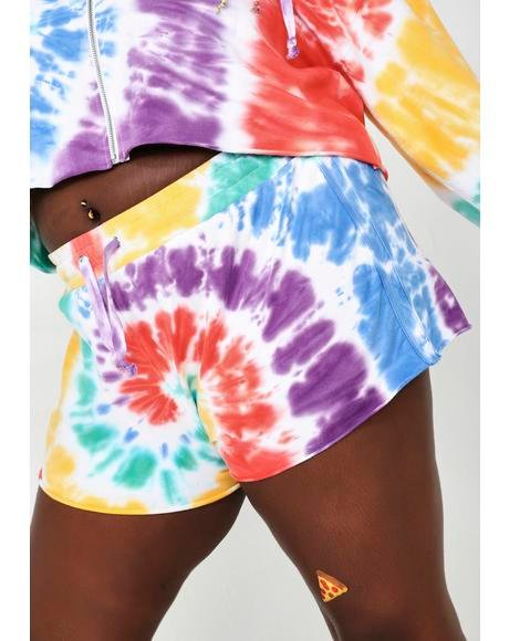 Hippie Trippy Delight Tie Dye Shorts