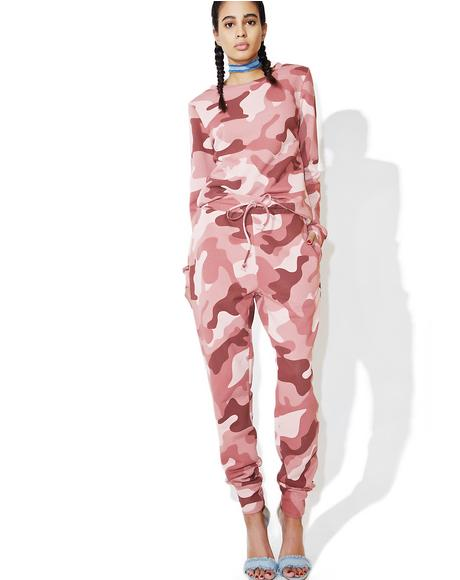 Blushing Camo Sweatpants