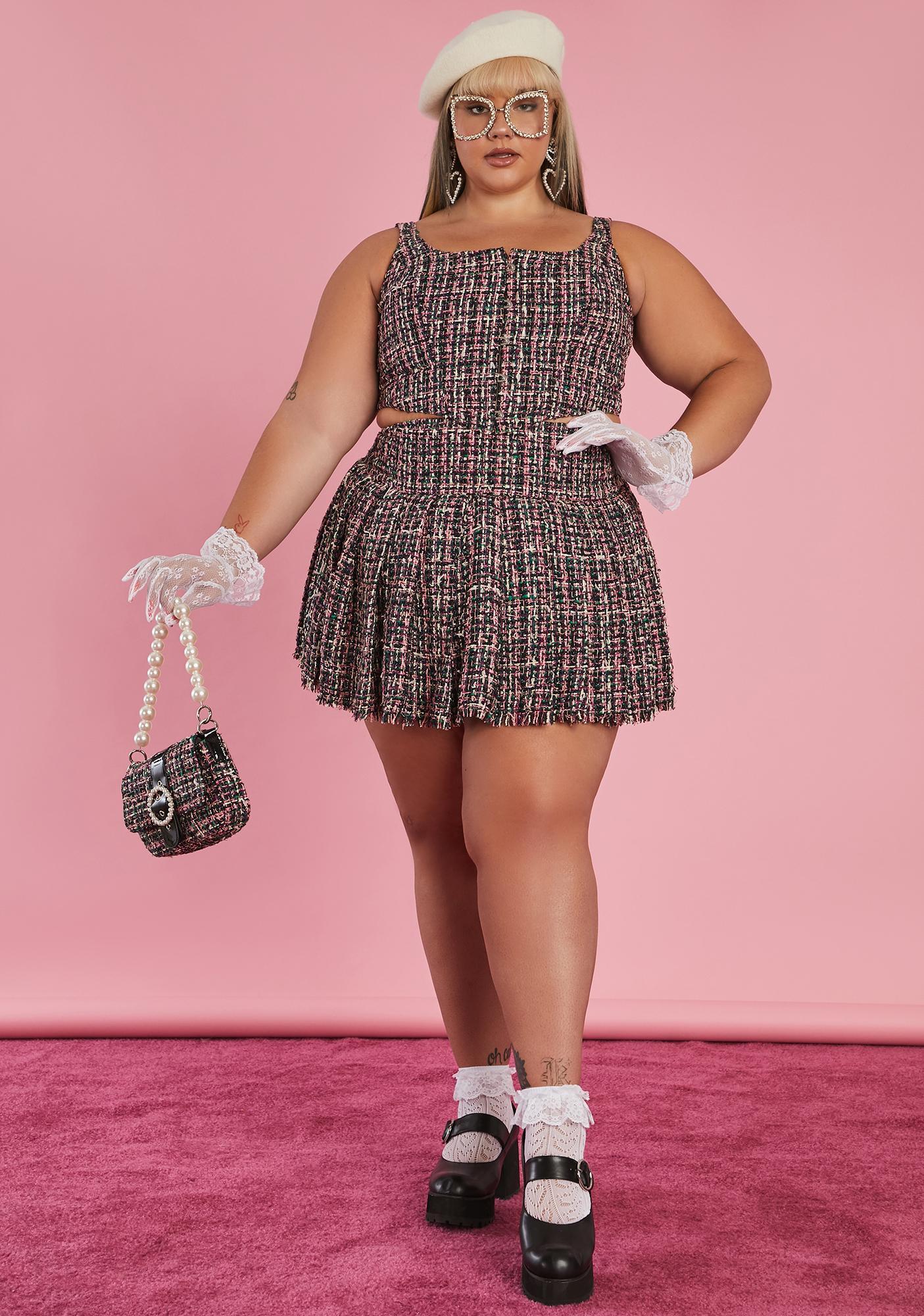 Sugar Thrillz Oh Pish Posh Tweed Corset