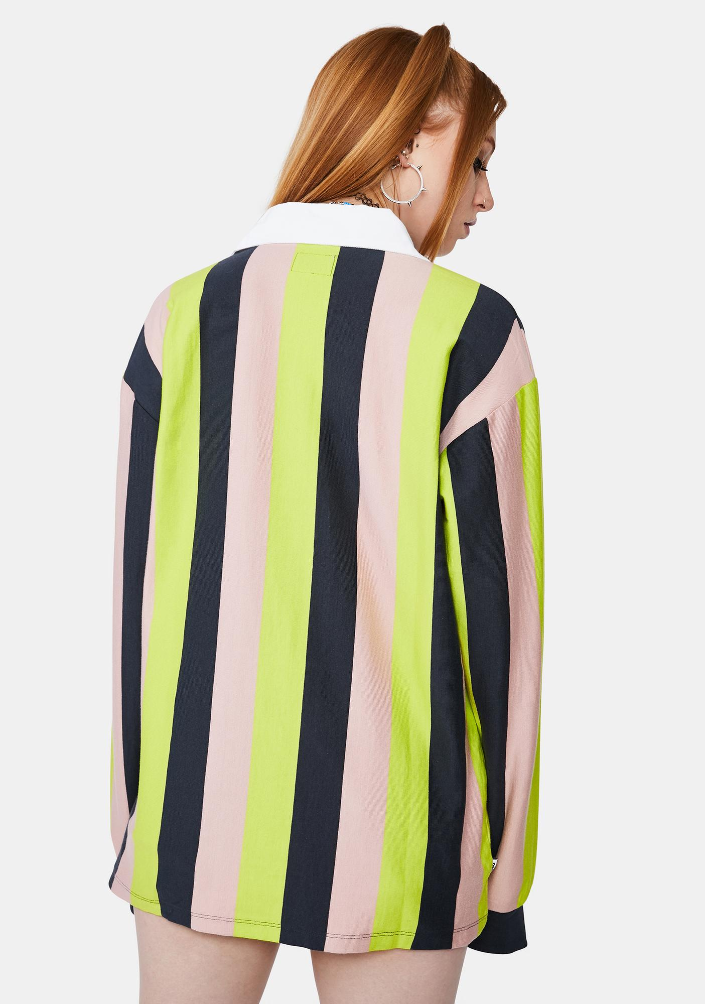 Obey Sideline Long Sleeve Polo Shirt