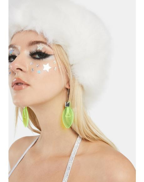 Lemon Merry And Bright Bulb Earrings