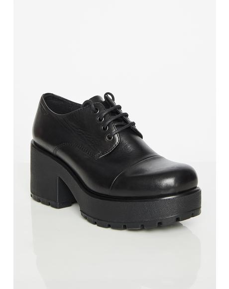 Dioon Leather Platform Oxfords