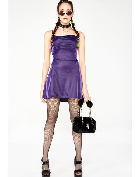 Purple Two Tone Metallic Shimmer Dress