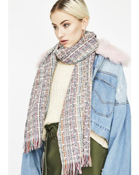 Classy Lady Tweed Scarf