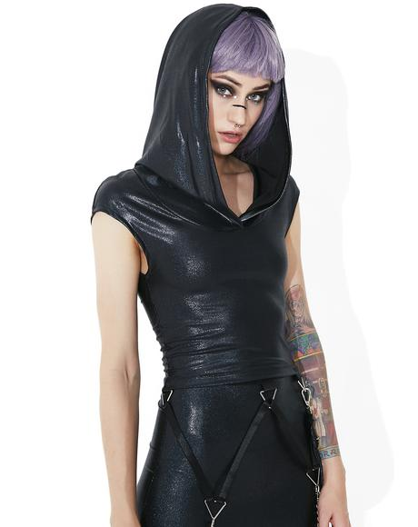 Shadow Trance Hooded Top