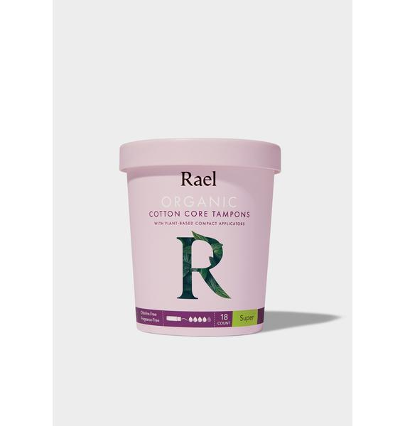 Rael Super Organic Cotton Tampons With Plant-Based Applicators