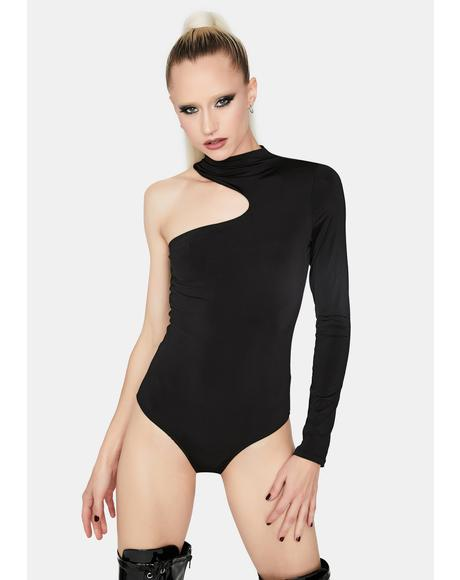 Midnight Take A Look One Sleeve Bodysuit
