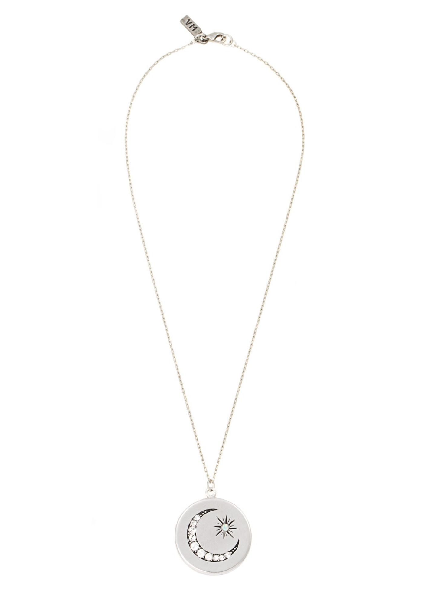 Vanessa Mooney Wrap Crystal Necklace in Metallic Gold Gijj7wo