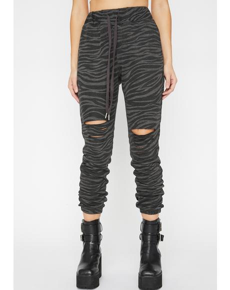 Mighty Jungle Zebra Joggers
