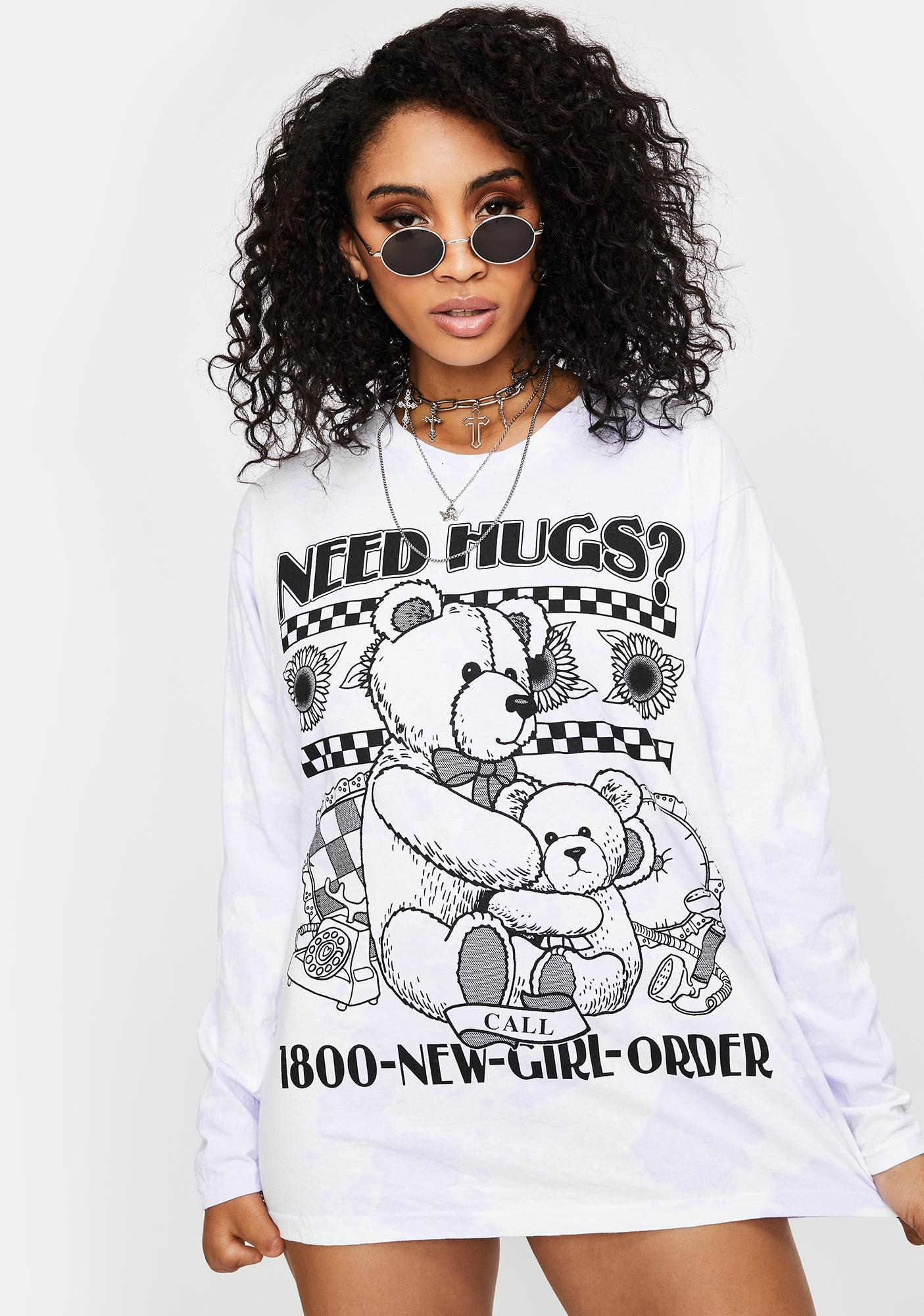 NEW GIRL ORDER Need Hugs Long Sleeve Tee