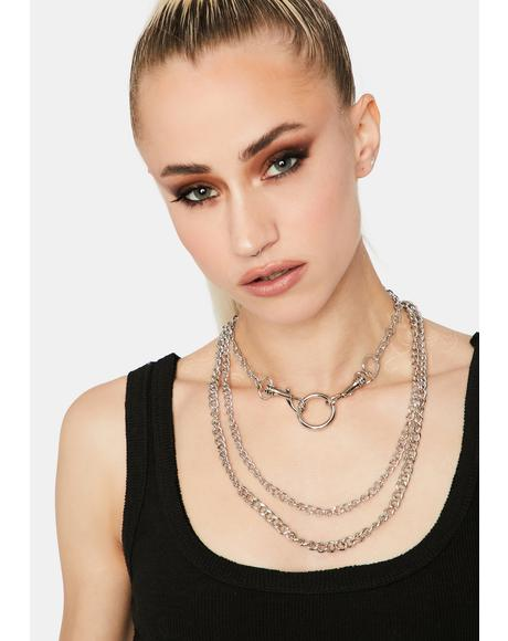 Forever Metal Layered Necklace