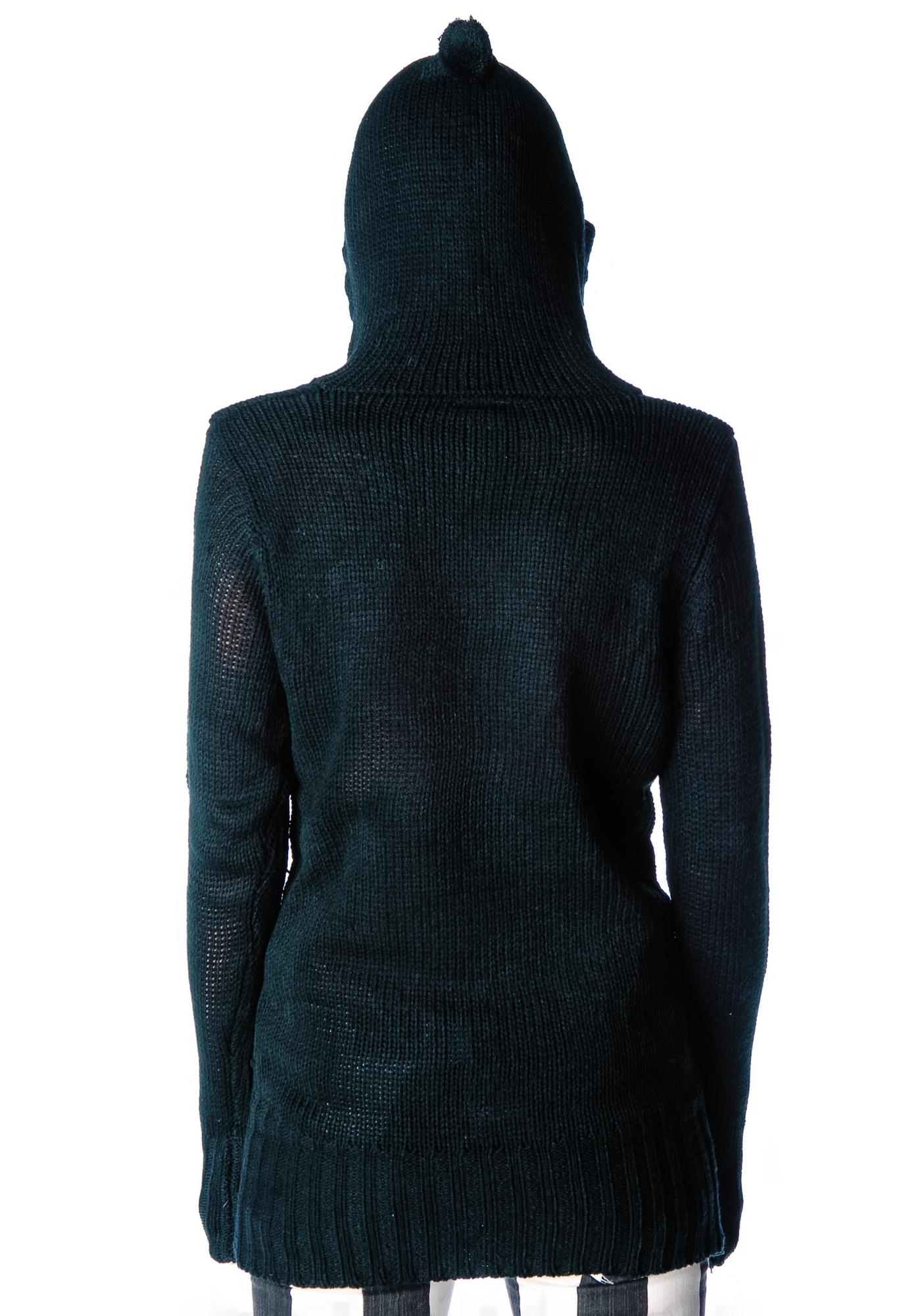 Riley Hooded Knit Sweater