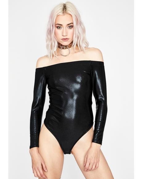 Quicksilver Metallic Bodysuit