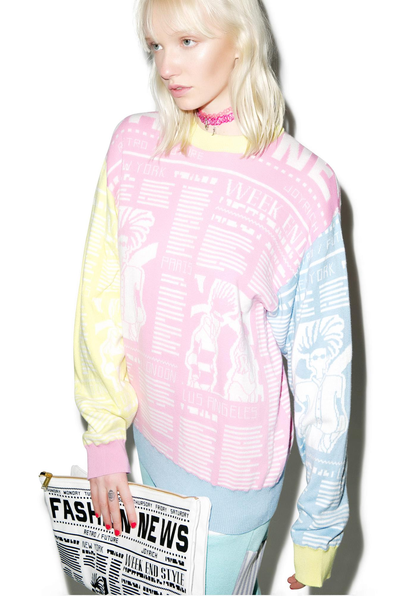 Joyrich Fashion News Knit Crew