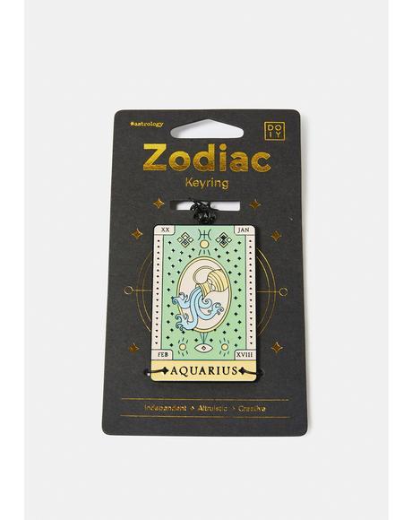 Altruistic Aquarius Zodiac Keychain