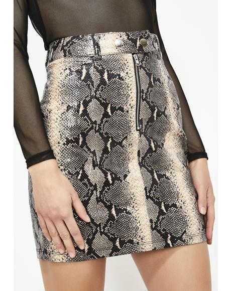 Latte Venomous Vixen Moto Skirt