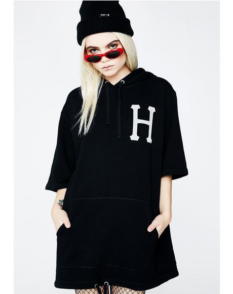 3 M Classic H Short Sleeve Fleece Hoodie