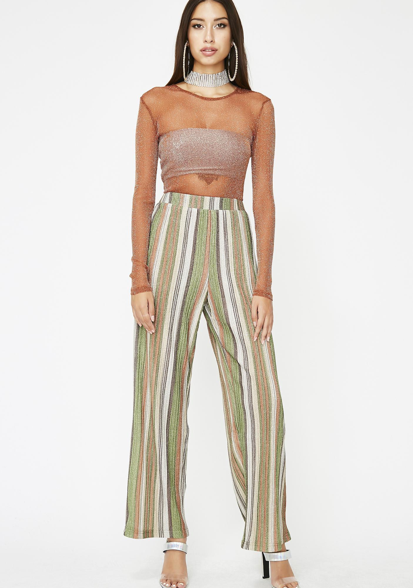 Mojito High Beams Striped Pants