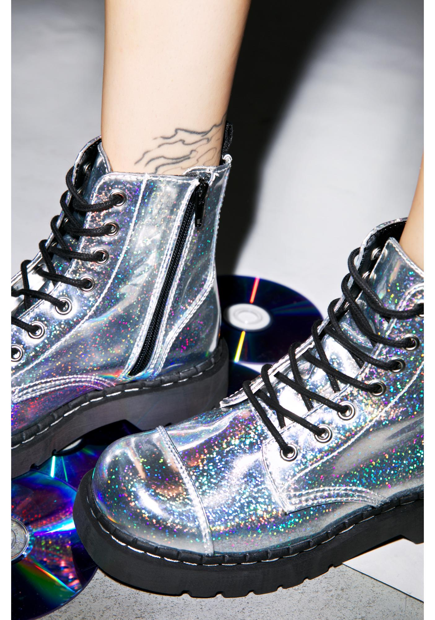 T.U.K. Mermaid Holographic 7 Eye Boot
