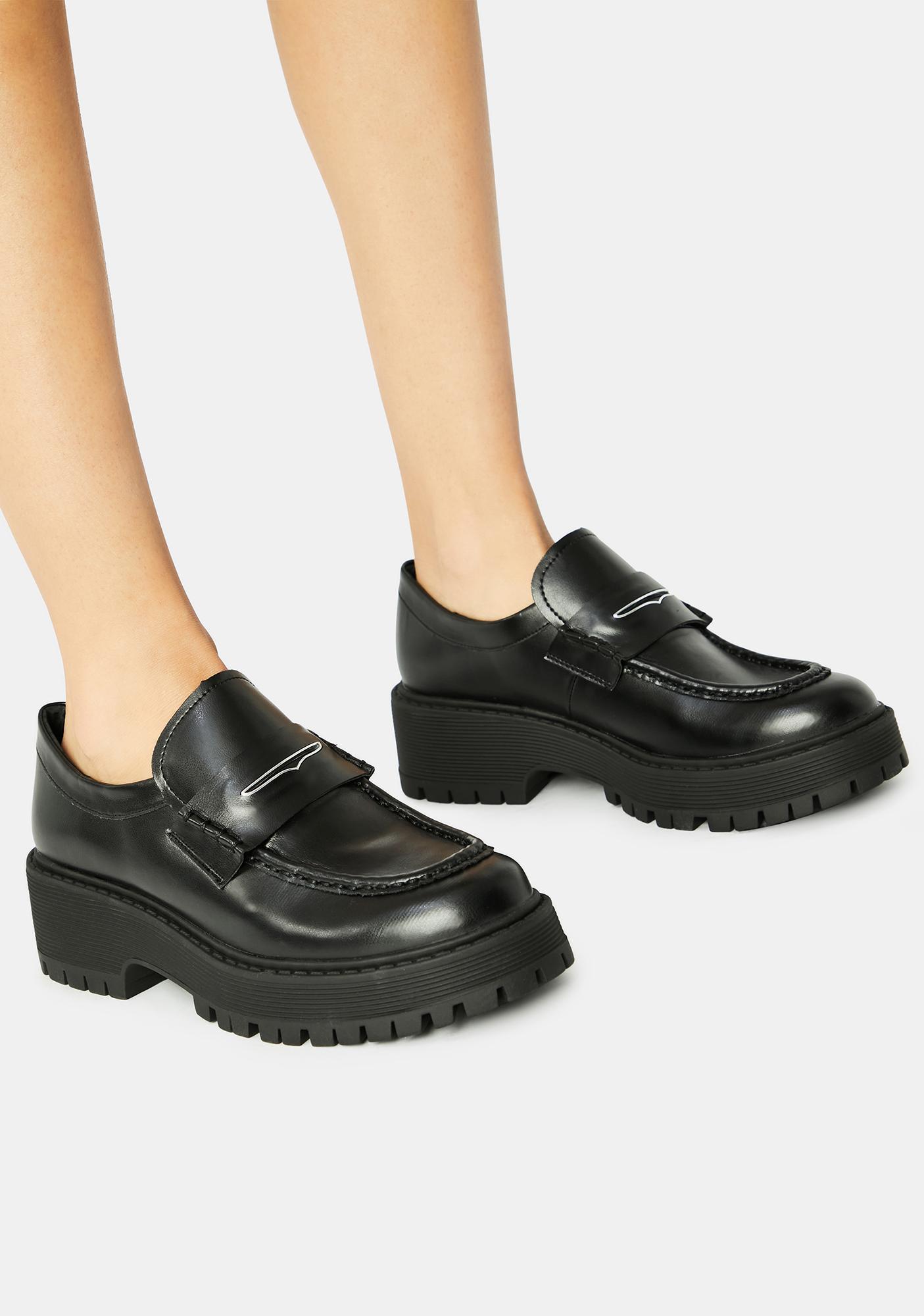 Steve Madden Black Malvern Loafers