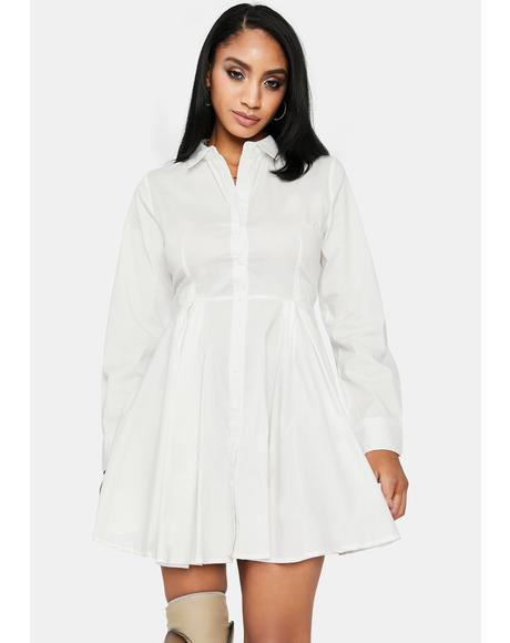 Basic Business Shirt Dress