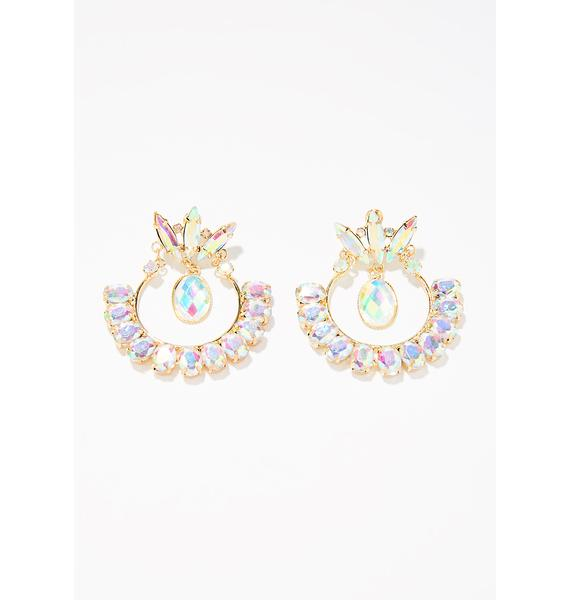 All The Riches Rhinestone Earrings