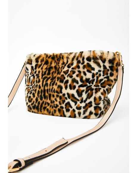 Savage Too Damn Glam Fuzzy Handbag