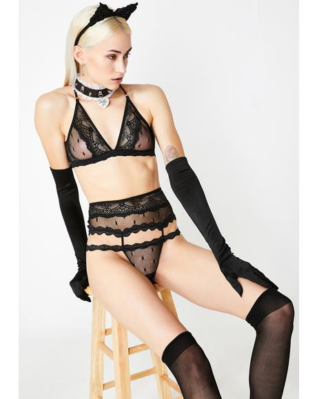 Drunk In Love Lace Kitten Set