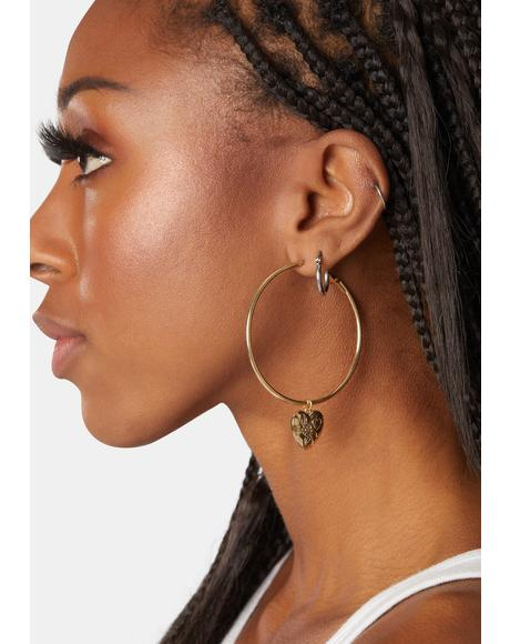 Made With Love Hoop Earrings