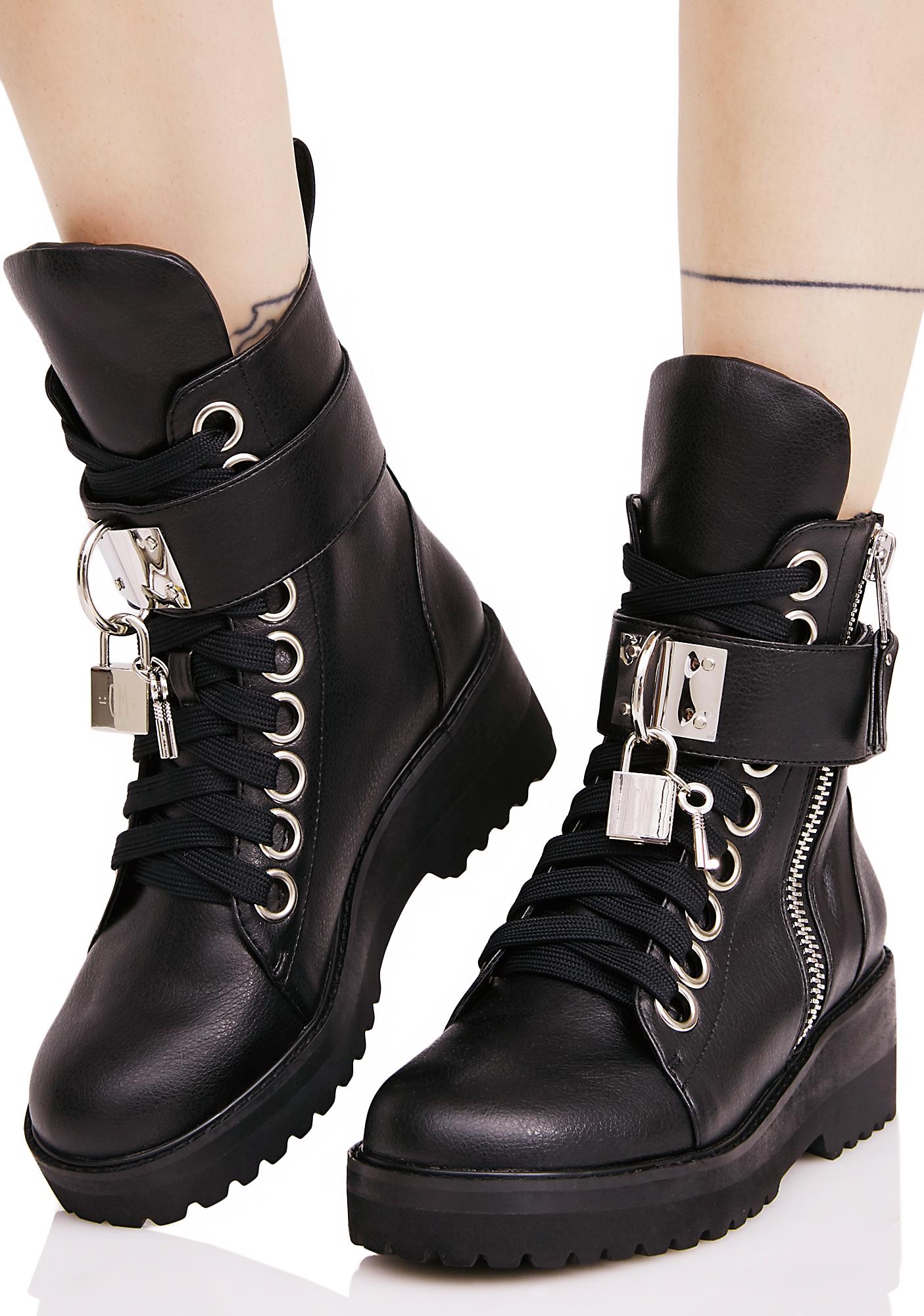 Current Mood Lock 'N Key Boots