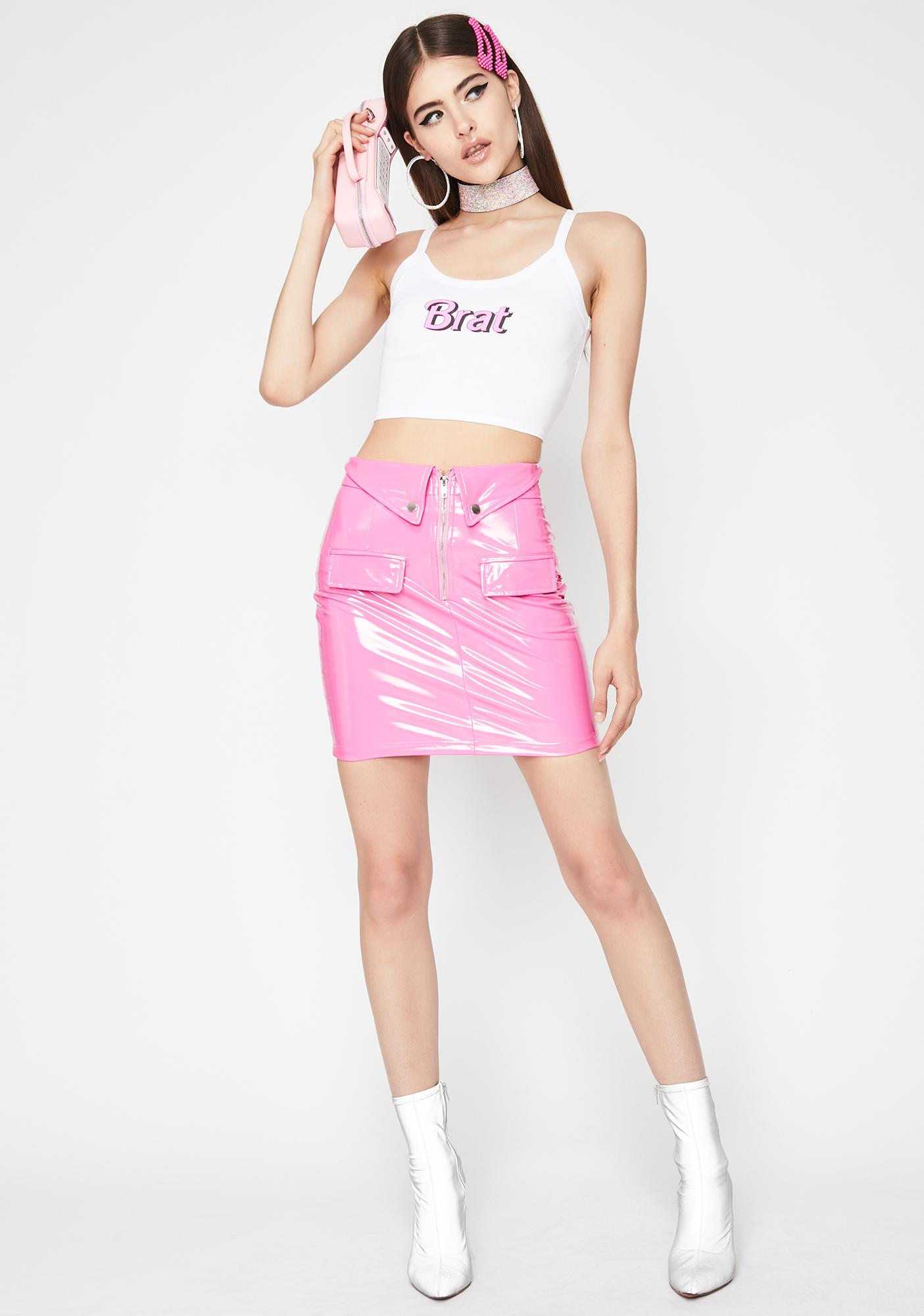 Doll Dilemma Vinyl Skirt