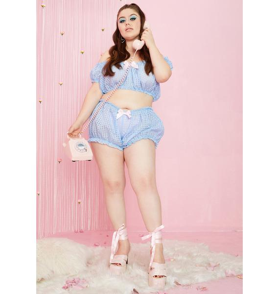 Sugar Thrillz Caught In The Boudoir Gingham Bloomers