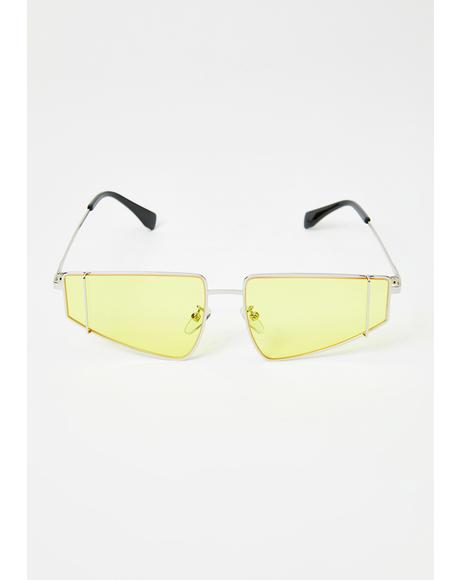 Mellow High Authority Rectangle Sunglasses