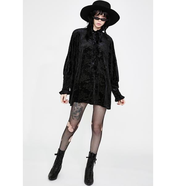 Killstar Isabella Velvet Tunic Dress