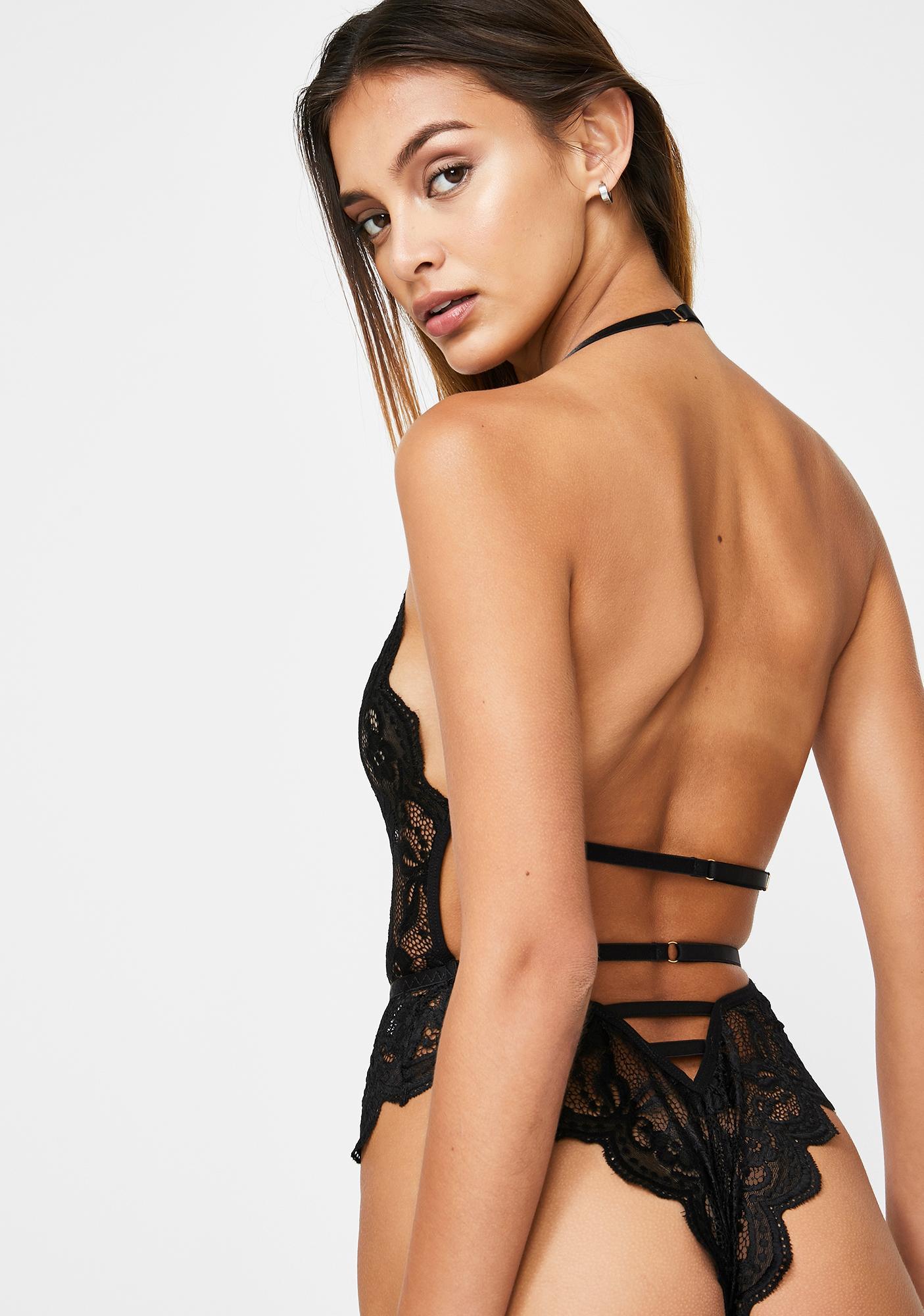 Momokrom Lace Deep-V Bodysuit