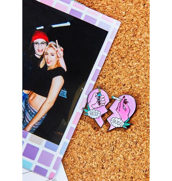 Sara M Lyons Best Buds Enamel Pin Set